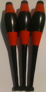 Dubé juggling clubs Beaver colors