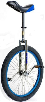 Nimbus II 24 inch blue unicycle