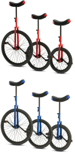 Torker Unicycle Unistar CX Colors: blue or red
